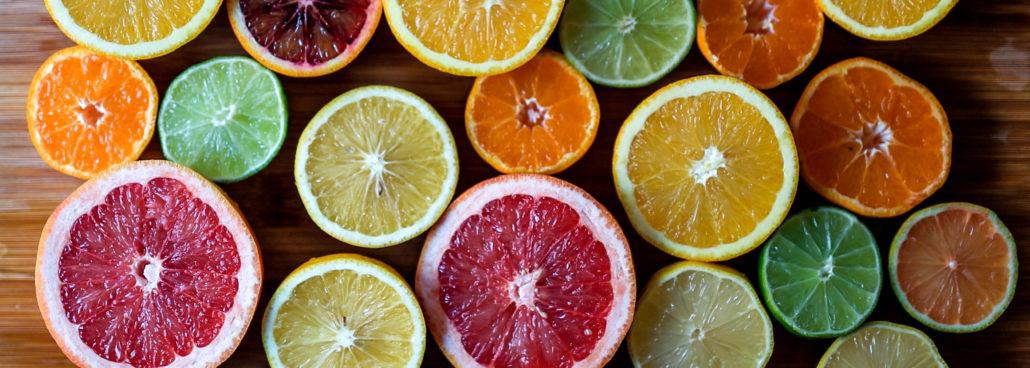 frukt med olika färg
