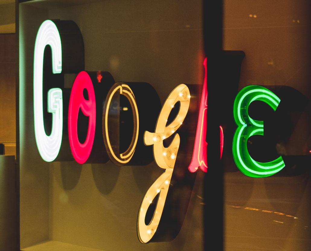 Google-skylt för Google Ads