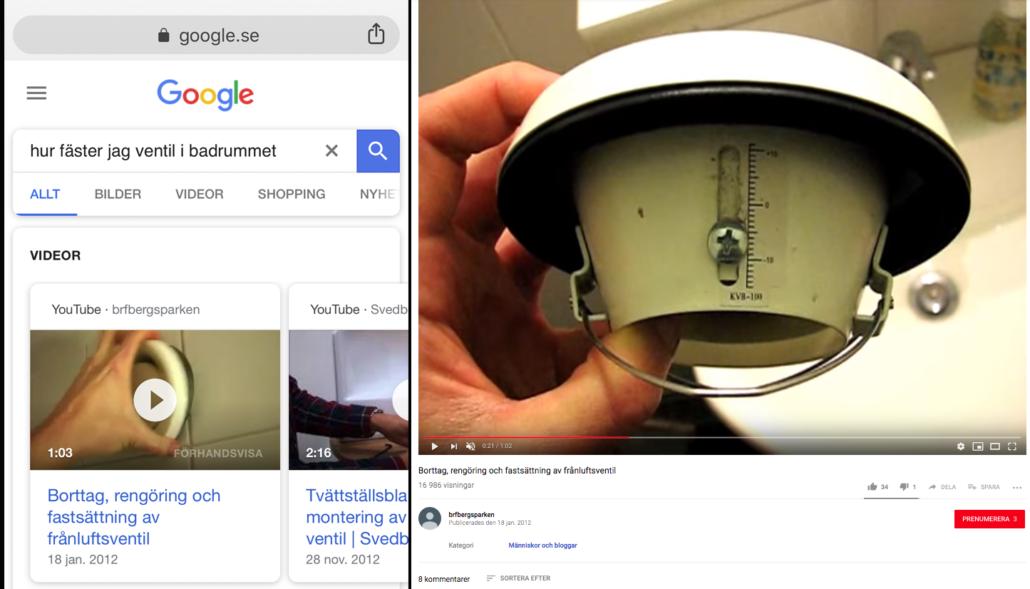 Google hjälper dig med badrumsventilen