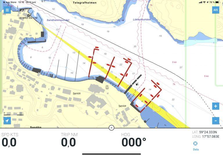 Detaljerad hamndata från Eniro och Hydrographica