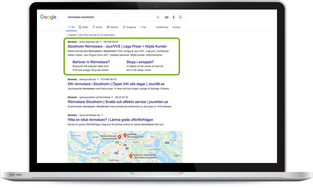 Annonser på Google