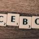 Facebook skrivet med Alphapet